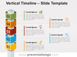 Timeline Powerpoint Slide Vertical Timeline Powerpoint With Cubes Presentationgo