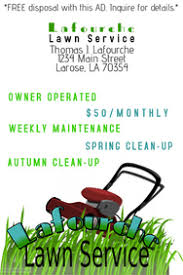 lawncare ad lawn service poster templates postermywall