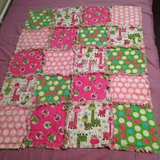 pink and green flannel quilt. Crib/stroller/car seat size. Contact ... & pink and green flannel quilt. Crib/stroller/car seat size. Contact me Adamdwight.com