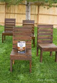 she is using this as patio furniture for her fire pit area but we could see them make nice outdoor dining table chairs as well