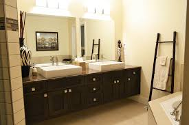 decoration bathroom sinks ideas: inspiring white three pendant lamp design over mirror and bath sink