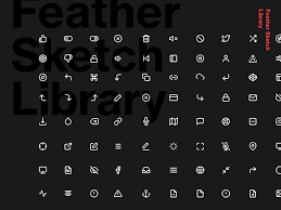 200 icons feather sketch library