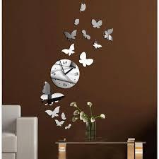huge wall clock modern inspirational 3d diy erfly wall clock sticker wall watch reloj modern
