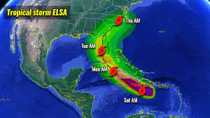Tropical Storm Warnings ahead of Elsa ...