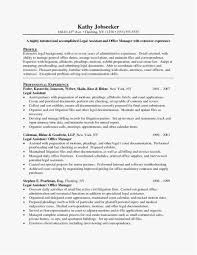 Paralegal Resume Objective Template Unique Example Resume Letter For
