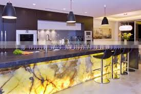 european style backlit onyx countertops for bar receptions