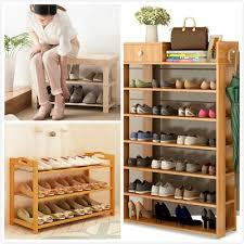 furniture shoe storage. 【Bamboo/Pine/Wooden Shoe Rack】Storage Organiser High Heel Boot Shoes Cabinet Furniture Shoe Storage I