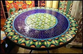mosaic patio table home decor cool mosaic patio table tile and glass tables top pics with mosaic patio table