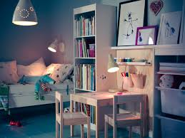 ... Decoration Using White Wood Kid Bunk Bed With Staircase Including Floor  Standing White Twin Ikea Kid Shelf And All White Kid Room Wall Paint Image