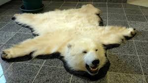 real fur blanket bear rug for polar bear rug