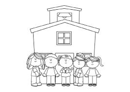 Tuyển chọn mẫu tranh tô màu trường mầm non quen thuộc cho bé tập tô - Tranh  tô màu cho bé