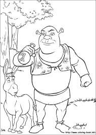 Small Picture Extraordinary Inspiration Shrek Coloring Pages Index Coloring