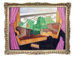 open window open hills oil painting
