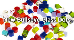 new bullseye glass dots