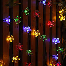 solar string lights.  Lights Solar String Lights Outdoor Flower Fairy Light 50 LED Multi Color Blossom  Lighting For Christmas In A