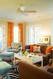fancy idea orange living room curtains decor