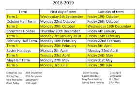 School Calendar - Oakwood Primary Academy