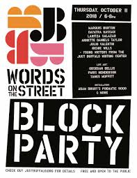 Block Party Flyer Words On The Street Block Party Just Buffalo Literary