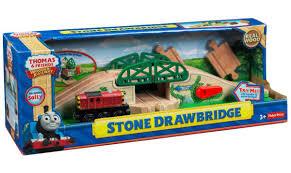 thomas friends wooden railway stone drawbridge toys r us
