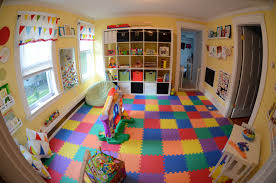 Decorations:Amazing Playroom Design With Open Shelves Ideas Stunning  Creative And Fun Kids Playroom Design