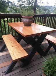 picnic table ideas simple inspiration diy dining