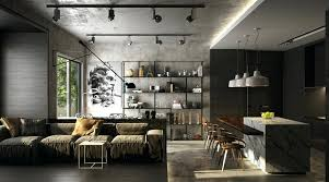industrial living room furniture. Industrial Living Room Dark Grey And Black Decor Style Furniture