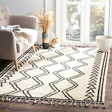 6x9 wool area rugs hand knotted ivory black wool area rug 6x9 wool area rug