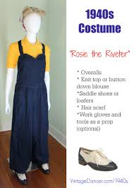 rosie the riveter costume clothes shoes hair scarf