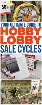 Hobby Lobby Pattern Sale Classy How To Know When Every Item At Hobby Lobby Goes On Sale Store