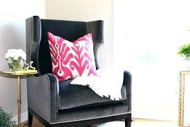 gray wingback chair. Furniture: Velvet Wingback Chair Pink Gray Cover Mauve Velve: