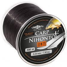 Купить <b>леска Mikado Nihonto</b> Carp 300м 0,30мм - 10,90кг