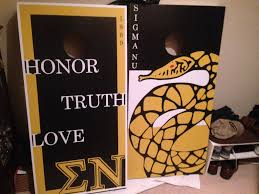 makes amazing gifts for everyone just check out these great corn hole boards we did for sigma nu fraternity place your orders today