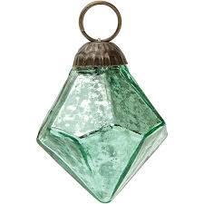 mini vintage green mercury glass ornament diamond design hanging ornaments decorations and supplies wedding essentials wedding favors party
