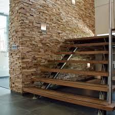 natural wood split face wall panels