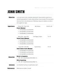 Free Simple Resume Templates Awesome Simple Resume Format Free Download Packed With Basic Resume Template