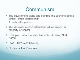 Communism Pros And Cons Chart The Pros And Cons Of Communism Homework Example December 2019