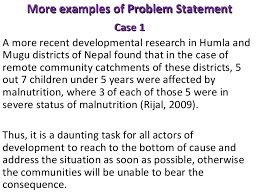Research Problem Statement Writing A Problem Statement For Qualitative Research Example Of A
