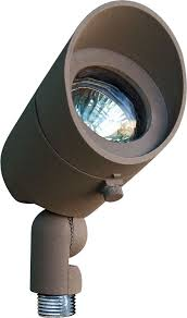 directional spot lighting. dabmar lv130bz modern bronze halogen exterior cast aluminum directional spot lighting with hood loading zoom