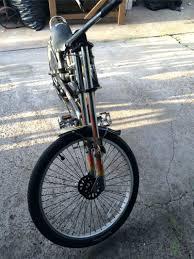 chopper bicycle 8 steps cool west coast tires wheelie bike great