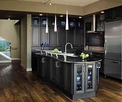 Dark grey kitchen cabinets by Decora Cabinetry ...