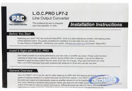 pac lp7 2 l o c pro series 2 channel line output converter with Line Output Converter Radio Shack Sni 15 Line Output Converter Wiring Diagram #21