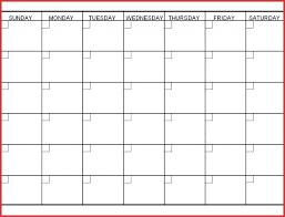 12 Week Calendar Template Printable Blank 12 Week Calendar Template Template