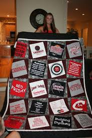 14 best Quilts: T-Shirt images on Pinterest | Crafts, Decoration ... & T-shirt quilt idea Like how this is offset - how I can make mine and Zach's  high school quilts T-Shirt Custom Trends Adamdwight.com