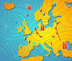 Weather Chart Imaginary Weather Chart Of Europe With Isobars