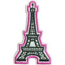 <b>Patch</b> / Applique - Sew / Iron - <b>Eiffel Tower</b> | Dies R Us