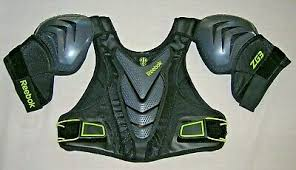 Reebok 3k Zg3 Lacrosse Shoulder Pads Small Chest Back Protector Pad Black S New 886051236960 Ebay