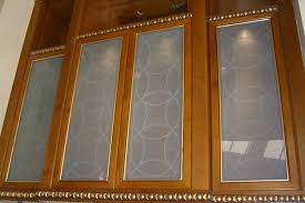 etched decorative glass cabinet inserts with a gorgeous contemporary overlapping circles design design