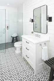 charming black and white bathroom floor tile patterns
