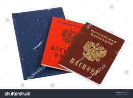 russian documents passport diploma military id stock photo  passport diploma and military id on white background
