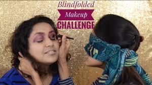 blindfolded makeup challenge part 1